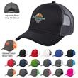 Cotton Twill Mesh Back Cap - Mesh back cap with 100% brushed cotton twill crown, pre-curved visor, and 6-panel, low-profile construction.