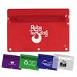 Premium Vinyl Zippered Pack, Transparent Colors - Colored translucent, vinyl zippered packet, fits standard 2 or 3 ring binder.