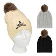 Cameron Cable Knit Pom Beanie - 100% acrylic one-size-fits-all cable knit pom beanie with several color options.