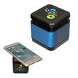 Cube Wireless Speaker & Charger - ABS plastic and aluminum multi-function tech accessory; both wireless speaker and charger.