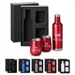 Beverage Lovers Gift Set - Gift set with insulated wine bottle and 2 matching 10 oz stemless vacuum wine tumblers with lids.