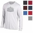 Champion® Men's Athletic Long Sleeve Tee - Show off your brand with Champion™ style on this classic long sleeve tee with reflective 'C' emblem on the open sleeve.
