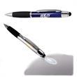 Executive Stylus Light Pen - Aluminum ballpoint stylus pen with light.