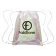 Iridescent Pearl Drawstring Bag
