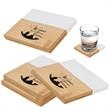 Marble And Bamboo Coaster Set - Marble And Bamboo Coaster Set. Set Includes Four Coasters. Great For Home Or Office.