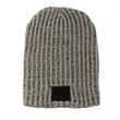 HABERDASHER 100% Cotton Knit Beanie with Leather Patch - 100% cotton knit beanie made in the USA with a leather patch.