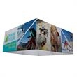 8' Square EuroFit Hanging Banner Kit - Elevate your message with this three-dimensional hanging banner.