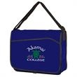 Non Woven Messenger Bag W/Pocket - Messenger bag with side pocket, clear plastic ID window, spacious interior and pen loop on flap.