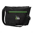 Soho Messenger Bag - Messenger bag with large main compartment, laptop/tablet sleeve, two zippered pockets under the flap and more.