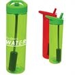 20 oz. MS Plastic filter bottle with flip straw - 20 oz. plastic water bottle with single-wall, BPA-free construction, filter and straw.
