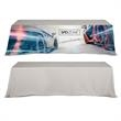 """DisplaySplash 8' Table Throw - 96"""" x 30"""" x 29"""" table throw cover with color dye sublimation printing, 300D polyester construction and PVC zippered bag."""
