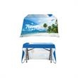 """DisplaySplash 4' Open Back Table Throw - 48"""" x 30"""" open back table throw made of 300D polyester with full color dye sublimation printing and a PVC zippered bag."""