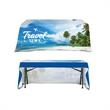 """DisplaySplash 6' Open Back Table Throw - 72"""" x 30"""" open back table throw made of 300D polyester with full color dye sublimation printing and a PVC zippered bag."""