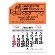 "Semi Truck Peel-N-Stick® Calendar - Semi-truck shaped Peel-N-Stick® 12-month calendar in 4""H x 3""W or 5-3/4""H x 3""W sizes and assorted colors."
