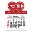 """Heart Shaped Peel-N-Stick® Calendar - Heart-shaped Peel-N-Stick® 12-month calendar in 4""""H x 3""""W or 5-3/4""""H x 3""""W sizes and assorted colors."""