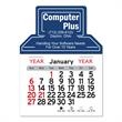 """Computer Shaped Peel-N-Stick® Calendar - Computer-shaped Peel-N-Stick® 12-month calendar in 4""""H x 3""""W or 5-3/4""""H x 3""""W sizes and assorted colors."""