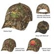 Realtree™ & Mossy Oak® Hideaway Camouflage Cap - Hunter's Hideaway Camouflage Cap.  60% Cotton/40% Polyester.  6 Panel, Low Profile.  Unstructured Crown & Pre-Curved Visor.