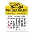 """Tow Truck Peel-N-Stick® Calendar - Tow truck-shaped Peel-N-Stick® 12-month calendar in 4""""H x 3""""W or 5-3/4""""H x 3""""W sizes and assorted colors."""