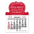 """Apple Shaped Peel-N-Stick® Calendar - Apple-shaped Peel-N-Stick® 12-month calendar in 4""""H x 3""""W or 5-3/4""""H x 3""""W sizes and assorted colors."""
