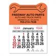 """Wrench Peel-N-Stick® Calendar - Wrench-themed Peel-N-Stick® 12-month calendar in 4""""H x 3""""W or 5-3/4""""H x 3""""W sizes and assorted colors."""