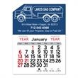 "Propane Truck Peel-N-Stick® Calendar - Propane Truck-themed Peel-N-Stick® 12-month calendar in 4""H x 3""W or 5-3/4""H x 3""W sizes and assorted colors."