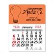 "Light Bulb Peel-N-Stick® Calendar - Light Bulb-themed Peel-N-Stick® 12-month calendar in 4""H x 3""W or 5-3/4""H x 3""W sizes and assorted colors."
