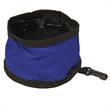 Perky Pet Travel Bowl - Foldable bowl with hook & loop closure ensures a compact size with clip.