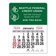 """Dollar Sign Peel-N-Stick® Calendar - Dollar sign-themed Peel-N-Stick® 12-month calendar in 3"""" x 4"""" and 3"""" x 5-3/4"""" sizes and assorted colors."""