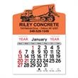 """Cement Truck Peel-N-Stick® Calendar - Cement truck-themed Peel-N-Stick® 12-month calendar in 4""""H x 3""""W or 5-3/4""""H x 3""""W sizes and assorted colors."""