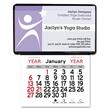 """Adhesive Business Card Holder Calendar - 4-1/2""""H x 3-3/4""""W vinyl business card holder with calendar with adhesive backing."""