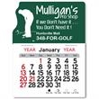 """Golf Peel-N-Stick® Calendar - Golf-themed Peel-N-Stick® 12-month calendar in 4""""H x 3""""W or 5-3/4""""H x 3""""W sizes and assorted colors."""