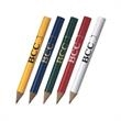 Round Golf Pencil - Number 2 golf pencil available in multiple colors