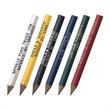 Hex Golf Pencil - Golf-sized hexagon shaped pencil with a generous imprint area