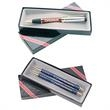 Deluxe Two-Piece Gift Box - Two-piece box set with grey interior and available in either single or two-pen sets