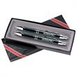 Vienna Set Pen - 2 piece Vienna™ writing set with mechanical pencil with 0.7mm lead and click-action retractable ballpoint with black ink.