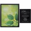 "Black Plaque - 8"" x 10"" - Black Plaque - 8"" x 10"" Can be displayed via wall mount or stand-alone."