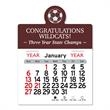 "Soccer Peel-N-Stick® Calendar - Soccer-themed Peel-N-Stick® 12-month calendar in 4""H x 3""W or 5-3/4""H x 3""W sizes and assorted colors."