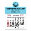 "Golf Ball Peel-N-Stick® Calendar - Golf-themed Peel-N-Stick® 12-month calendar in 4""H x 3""W or 5-3/4""H x 3""W sizes and assorted colors."