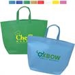 Jumbo Heat Sealed Non-Woven Tote - Large open tote made of eco-friendly heat-sealed 80 GSM Non-Woven Polypropylene material.
