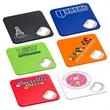 Econo Bottle Opener Coaster - ABS plastic bottle opener / coaster in six different colors.