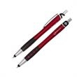 Prestige Matte Stylus Pen - Click action plastic pen with TPR grip, sleek chrome accents and silicone stylus tip.