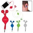 Retractable Earbuds - In-ear headphones with retractable cable.