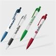 Palmiro Pen - This push-action retractable ballpoint has a clean white plastic barrel and comfortable ribbed Grip