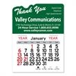 """Thank You Peel-N-Stick® Calendar - Thank you-themed Peel-N-Stick® 12-month calendar in 4""""H x 3""""W or 5-3/4""""H x 3""""W sizes and assorted colors."""