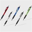 Mateo™ Pen (Pat #D746,376, CND: 162,113) - Metallic bodied pen with black and chrome accents, contoured shape, grip section and black antifraud ink