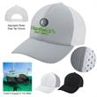 Peak Performance Cap - Six panel cap with structured crown, pre-curved visor, perforated polyester micro suede side panels and plastic snap tab closure
