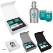 Stemless Wine and Growler Gift Set - Two 12 oz. stemless wine glasses and one 64 oz. growler together in one gift set.