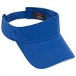 Ultra Fine Brushed Cotton Twill Sandwich Visor Sun Visor - Superior brushed 100% cotton sun visor with sandwich bill and an adjustable hook and loop closure.