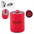 Round Plastic Mini Wireless Wireless Speaker - Plastic Wireless enabled mini speaker.