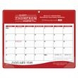 """Daily Planner - 9"""" x 11-1/4"""" 12-month vinyl daily planner with frosted corners and hanging hole."""